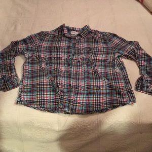 Pretty plaid flannel shirt